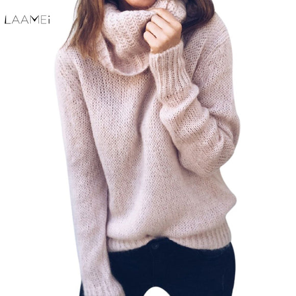 Laamei 2018 Pullover Women's Jumper Turtleneck Sweater