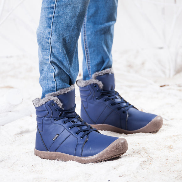 Times New Roman Men Winter Boots Male Snow Ankle Boots Waterproof Warm Fur