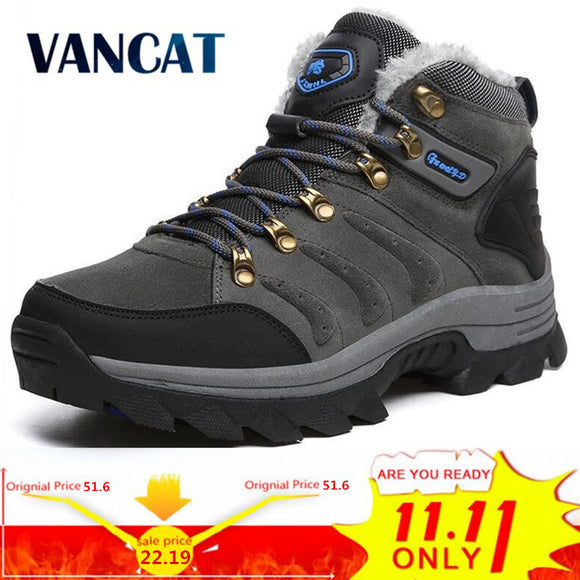 VANCAT Big size New Men Boots for Men Winter Snow Boots