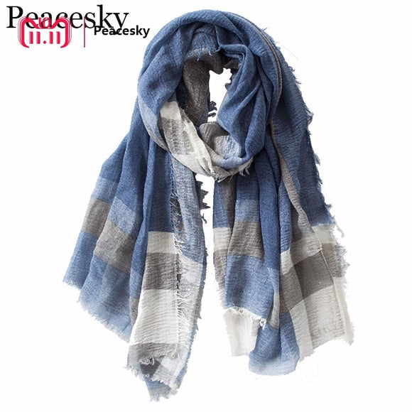 British Style Plaid Men Scarf Winter 2018 Fashion Classical