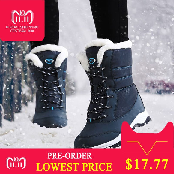 Women boots non-slip waterproof winter ankle snow boots