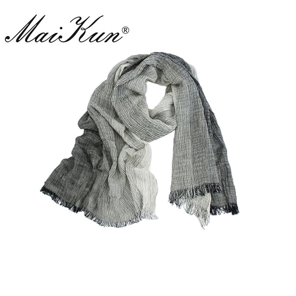 Maikun Scarf for Unisex Blend Gradient Cotton Scarves