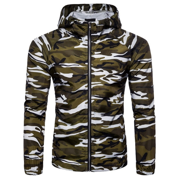 HEFLASHOR Men Military Camouflage Fleece Jacket Quick Drying Loose Coat