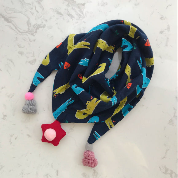 Autumn Winter Children's Cotton Triangle Scarf