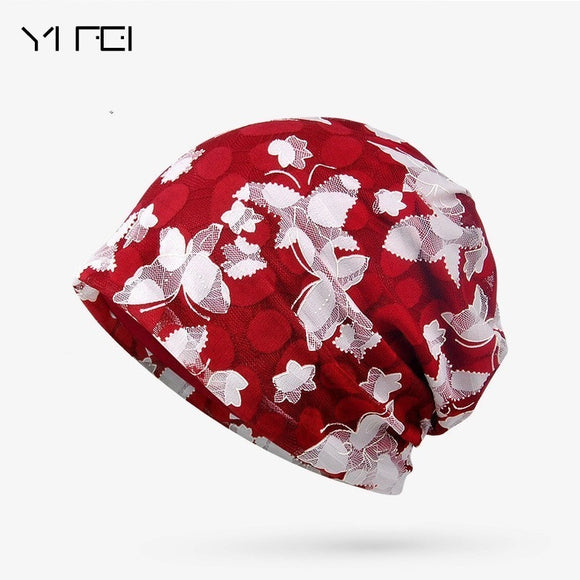 Brand New Women's Summer Autumn Hat 2018 Fashion Butterfly Beanie Lady Turban