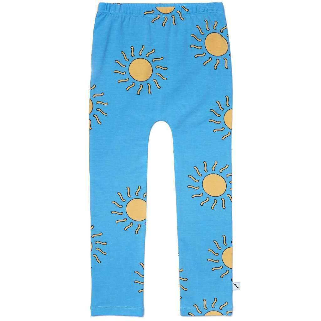 CarlijnQ Bottoms CarlijnQ Big Sun Leggings- Blue