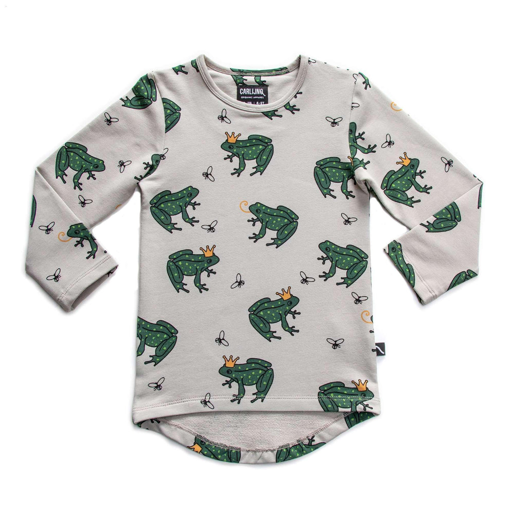 CarlijnQ T-Shirt - Long Sleeve CarlijnQ Frog Longsleeve drop back