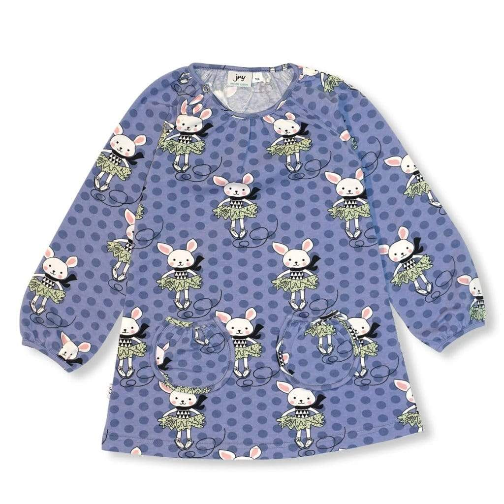 JNY Kids T-Shirt - Long Sleeve JNY Colourful Kids- Skating Bunny Tunic/Top