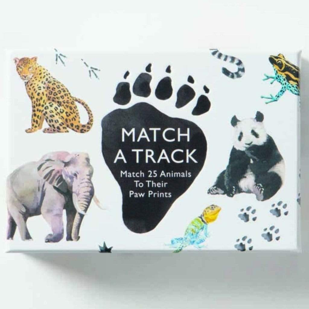 Laurence King Publishing Games Match a Track: Match 25 Animals to Their Paw Prints -Marcel George