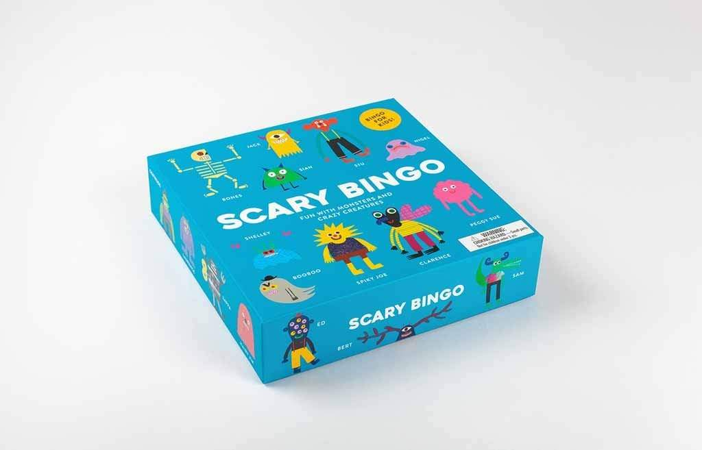 Laurence King Publishing Games Scary Bingo: Fun with Monsters and Crazy Creatures -Rob Hodgson