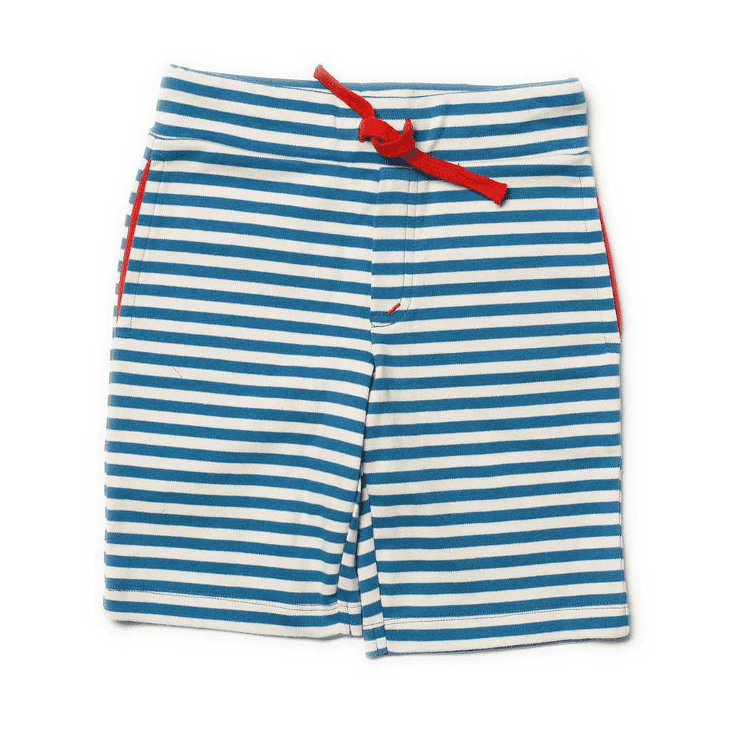 Little Green Radicals Shorts Little Green Radicals Ocean Blue Stripe Beach Shorts