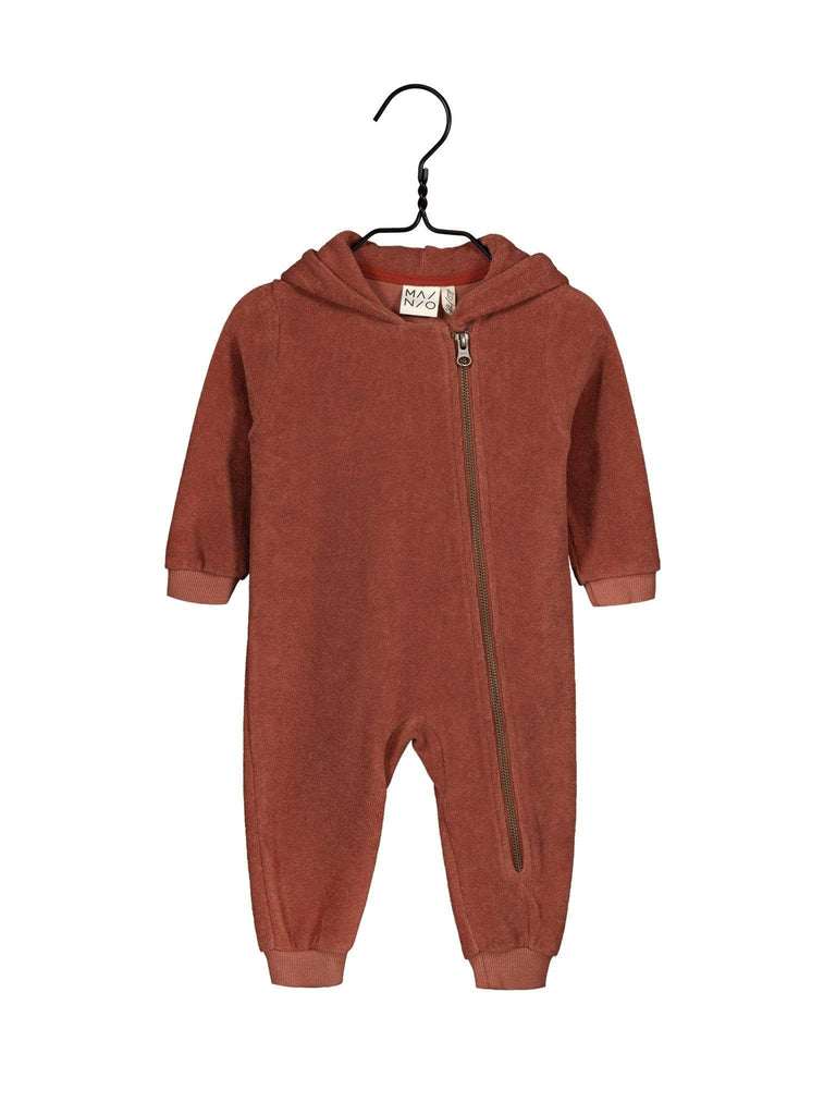 Mainio T-Shirt - Long Sleeve Mainio -Terry Hooded Jumpsuit, Russet