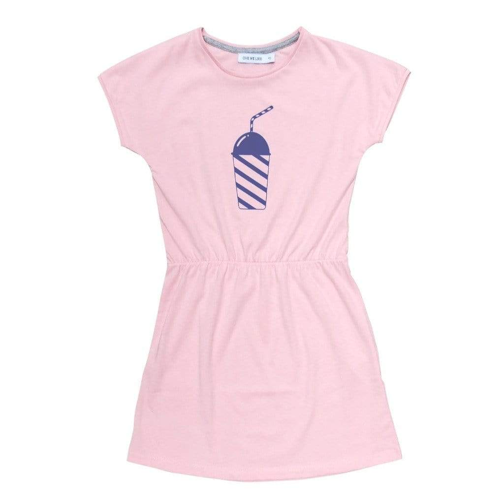 One We Like Dresses One We Like POP DRESS Short Sleeves- MILKSHAKE