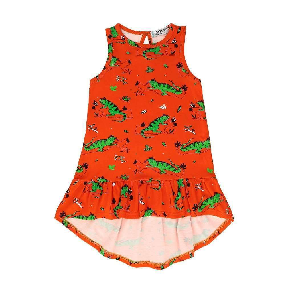 Raspberry Republic Dresses & Skirts Raspberry Republic Dress - Ignacio the Iguana Red
