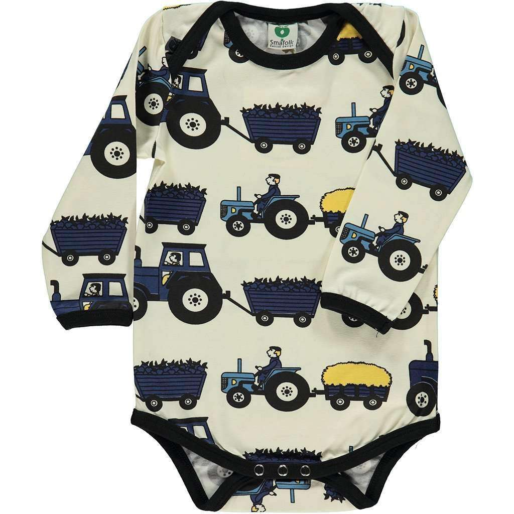 Smafolk Bodysuits Smafolk Long Sleeve Bodysuit with Tractor Print