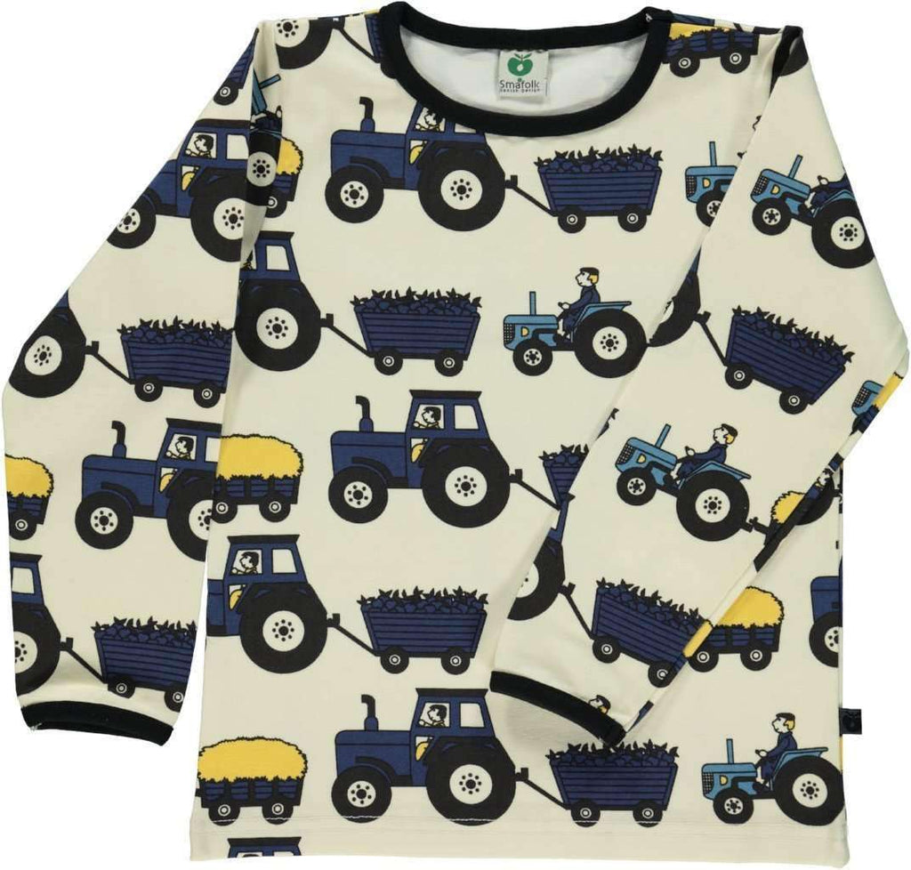 Smafolk T-Shirt - Long Sleeve Smafolk Long Sleeve Tee Shirt with Tractor