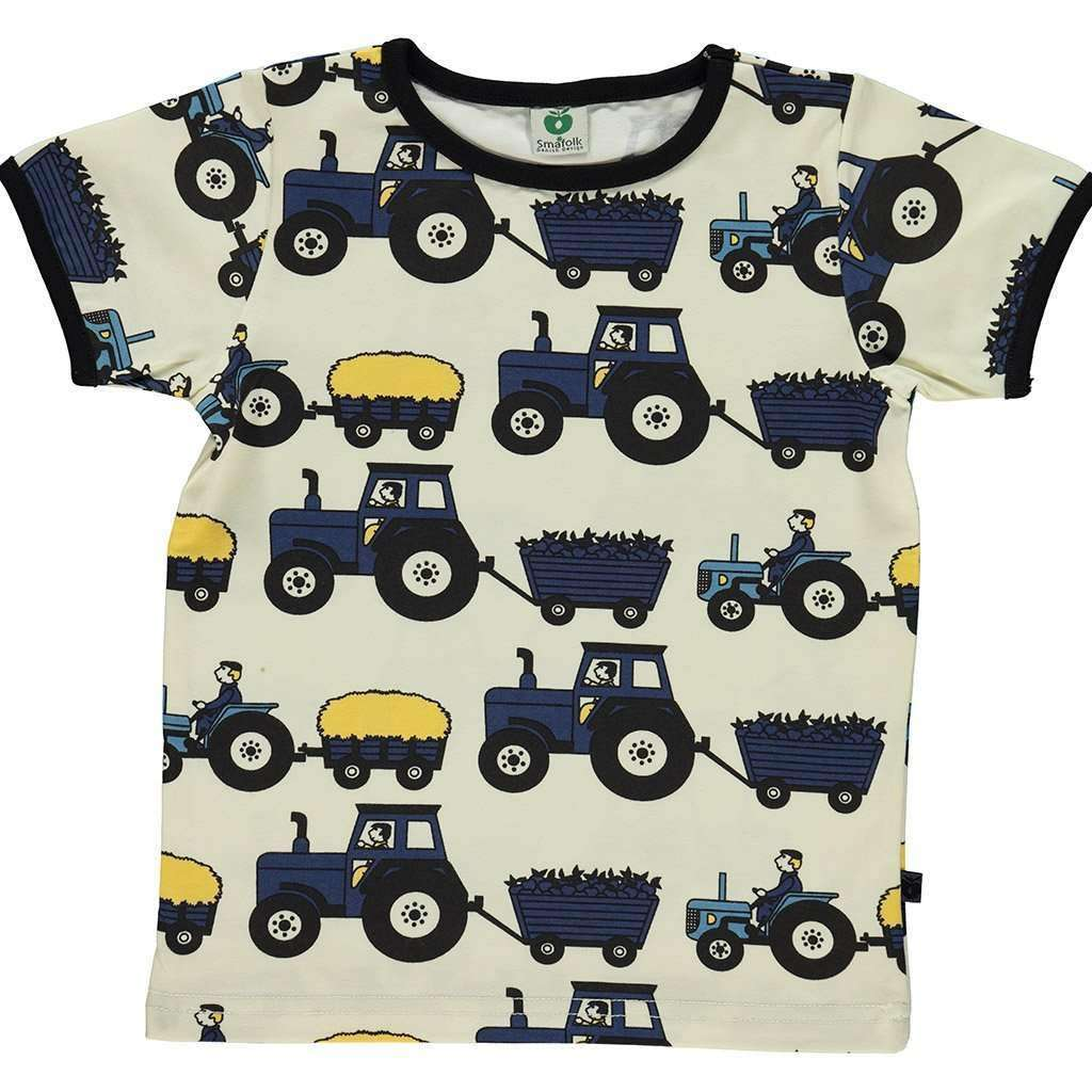 Smafolk T-Shirt - Short Sleeve Short Sleeve Tee Shirt with Tractor