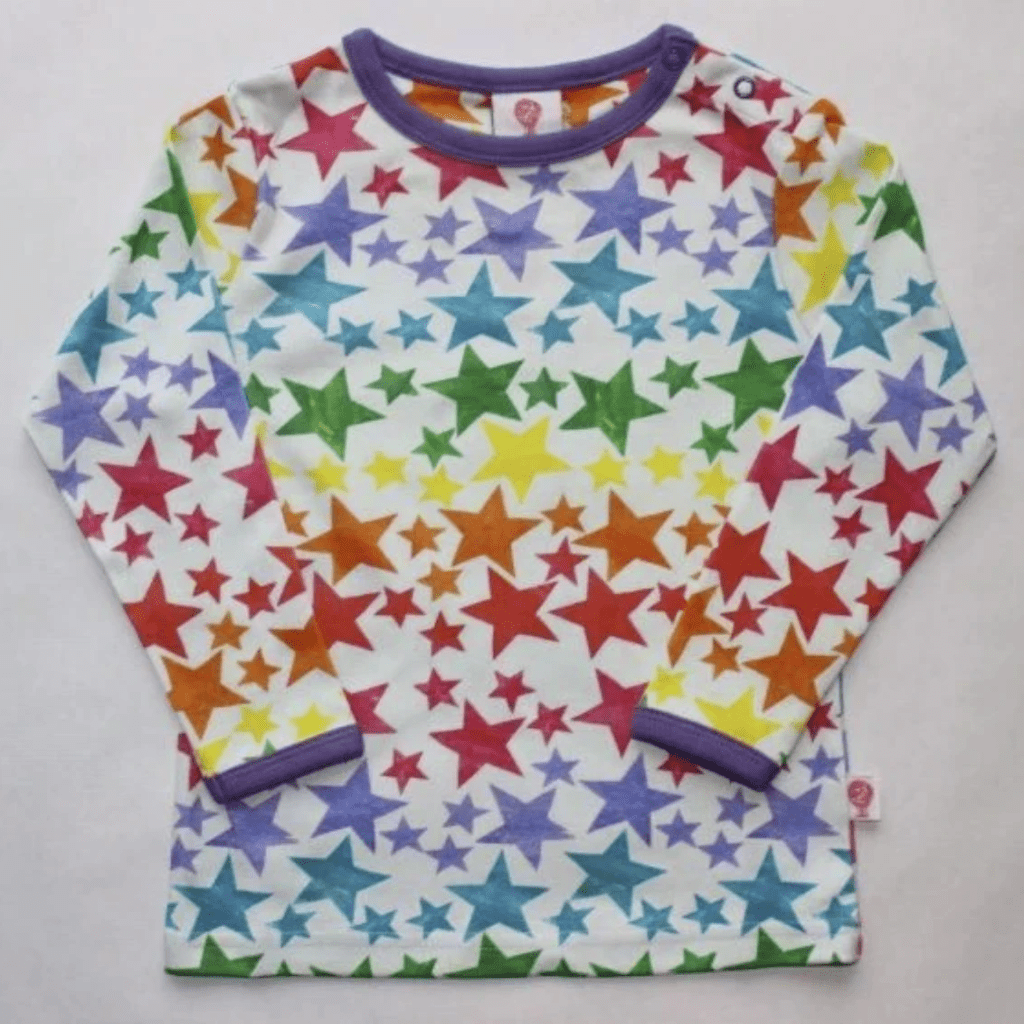 The Bunting Tree T-Shirt - Long Sleeve The Bunting Tree Rainbow Star Long-sleeved Top