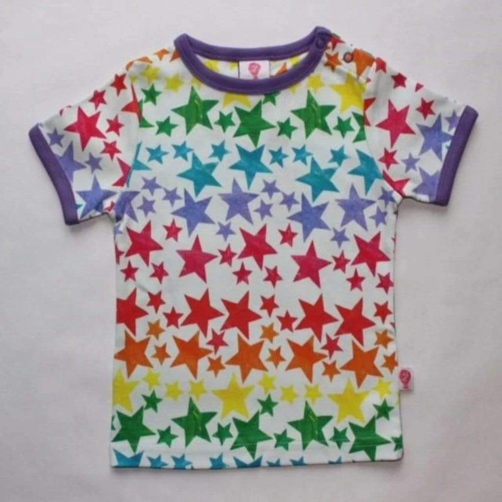 The Bunting Tree T-Shirt - Short Sleeve The Bunting Tree Rainbow Star- Short-sleeved T-shirt