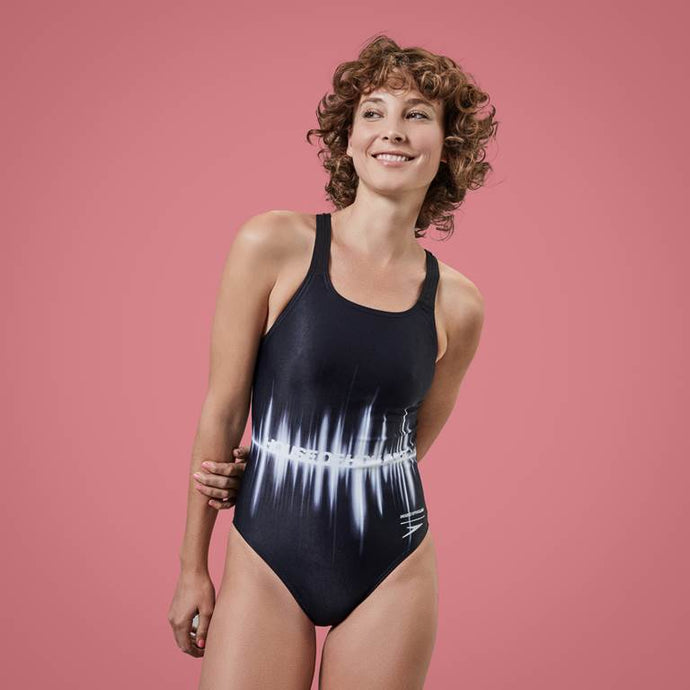 House of Holland Soundwave Swimsuit Black