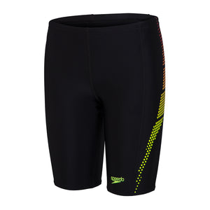 Junior Male Plastisol Placement Jammer Black/Lava Red/ Fluo Yellow