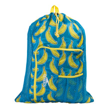 Load image into Gallery viewer, Deluxe Ventilator Mesh Bag (Blue/Yellow Print)