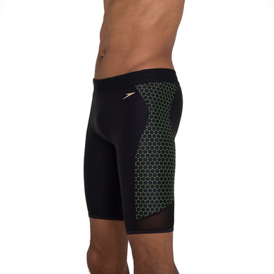 Male Mesh Placement Jammer Black/Fluo Yellow
