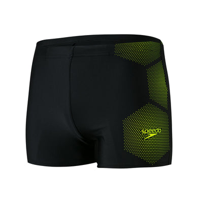 Male Tech Placement Aquashort Black/Fluo Yellow