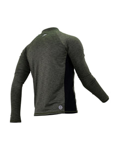 Speedo Casual Male Cardigan  Long Sleeve w/ Zipper (Hedge Grow / Black)