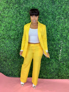 Girl Power Yellow-Blazer