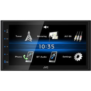 "JVC KW-M25BT 6.8"" Mechless Digital Media Receiver with Capacitive Monitor Bluetooth - WWW.PLANETAUTO.IE"