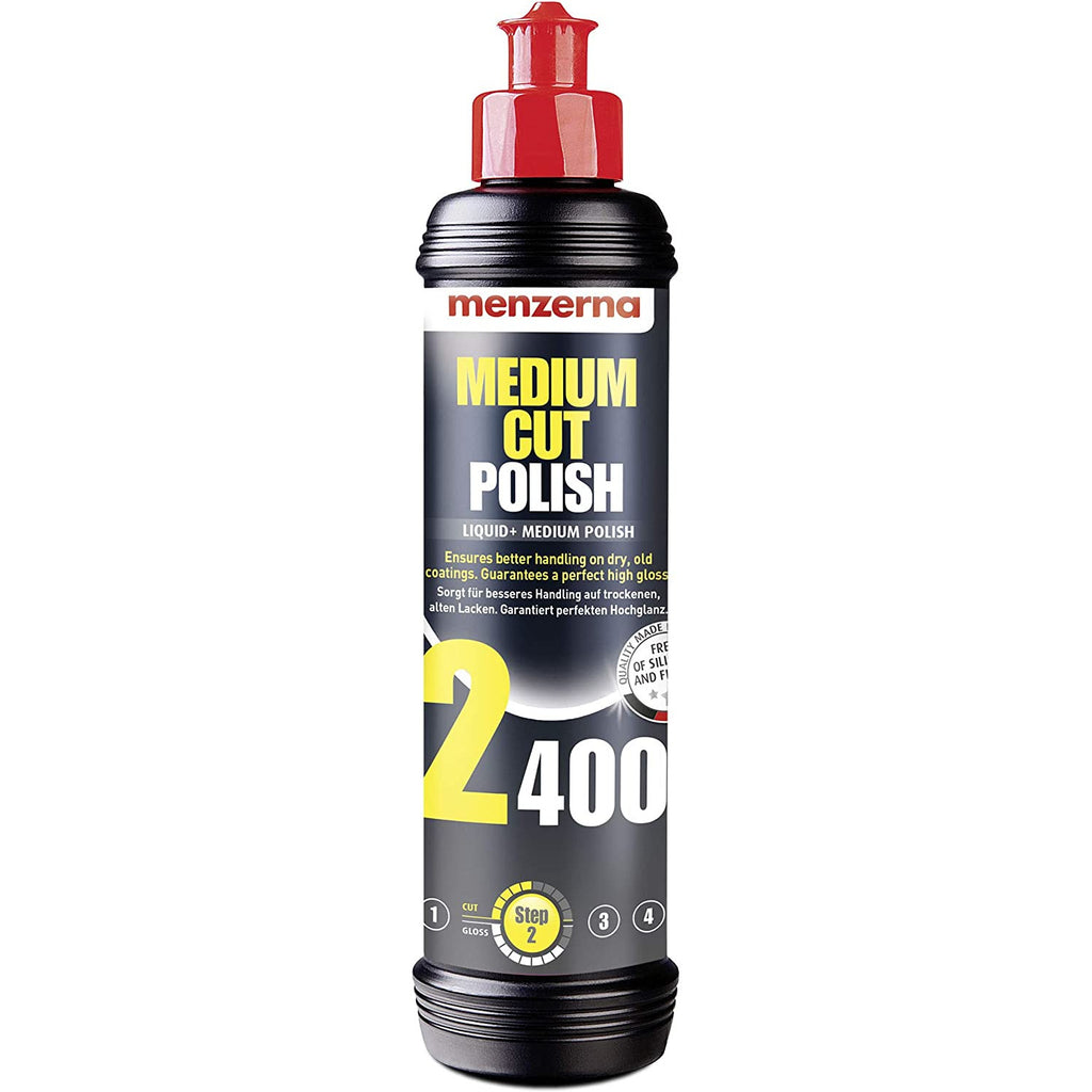 Menzerna Medium Cut Polish Liquid+ 250ml - WWW.PLANETAUTO.IE