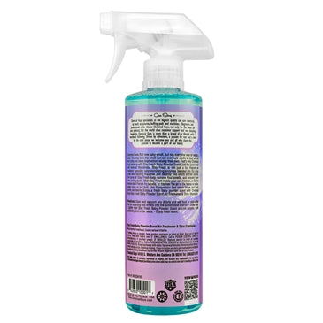 Chemical Guys Stay Fresh Baby Powder Scented Premium Air Freshener and Odor Eliminator 473ml - WWW.PLANETAUTO.IE