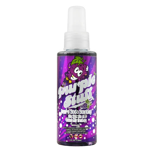 Chemical Guys Purple Stuff Grape Soda Scent Premium Air Freshener & Odor Eliminator 118ml - WWW.PLANETAUTO.IE