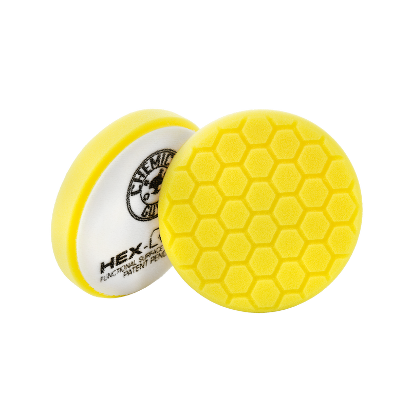 "Chemical Guys Hex-Logic Yellow Heavy Cutting Pad 5.5"" - WWW.PLANETAUTO.IE"