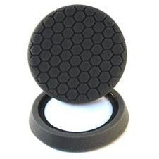 "Chemical Guys 7.5″ ""Self Center"" Hex-Logic Pad -Black Finishing Pad - WWW.PLANETAUTO.IE"