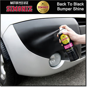 Simoniz Back To Black Bumper & Trim Aerosol 500ml - WWW.PLANETAUTO.IE
