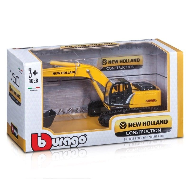 Burago New Holland Construction E215C 1:50 - WWW.PLANETAUTO.IE