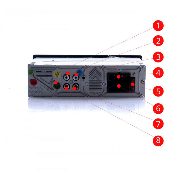 Single DIN Car Radio MP3 Player with Bluetooth USB AUX IN Micro SD - WWW.PLANETAUTO.IE