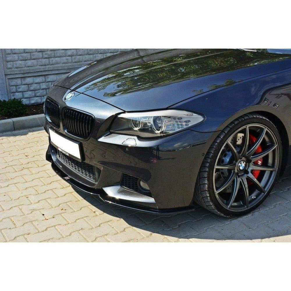 Maxton Design Front Splitter BMW 5 series F10/F11 M-PACK 2011 - Gloss Black