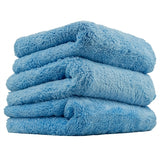"Chemical Guys Happy Ending Edgeless Microfiber Towel, Blue, 16"" x 16"" (3 Pack) - WWW.PLANETAUTO.IE"