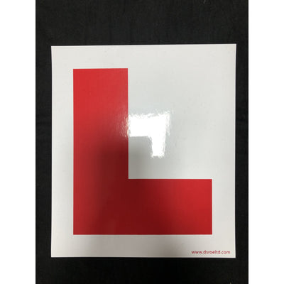 Learner Plate x 2 Self Adhesive Inside Windscreen Use - WWW.PLANETAUTO.IE
