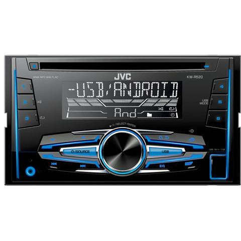 JVC KW-R520 2 Din CD Receiver with front AUX/USB Input - WWW.PLANETAUTO.IE