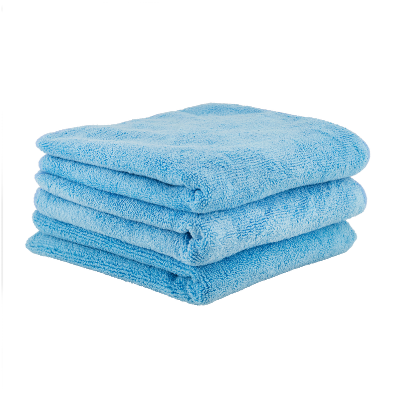 "Chemical Guys Workhorse XL Blue Professional Grade Microfiber Towel 16""x24"" 3 Pack - WWW.PLANETAUTO.IE"