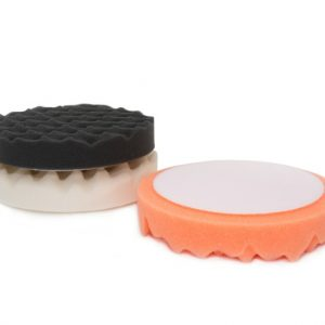 "Martin Cox 6"" Black Soft Foam Waffle Machine Polishing Pad Velcro - WWW.PLANETAUTO.IE"