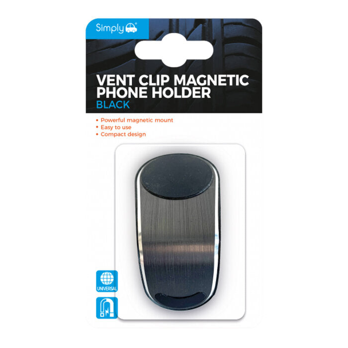 Simply Vent Clip Magnetic Phone Holder Black