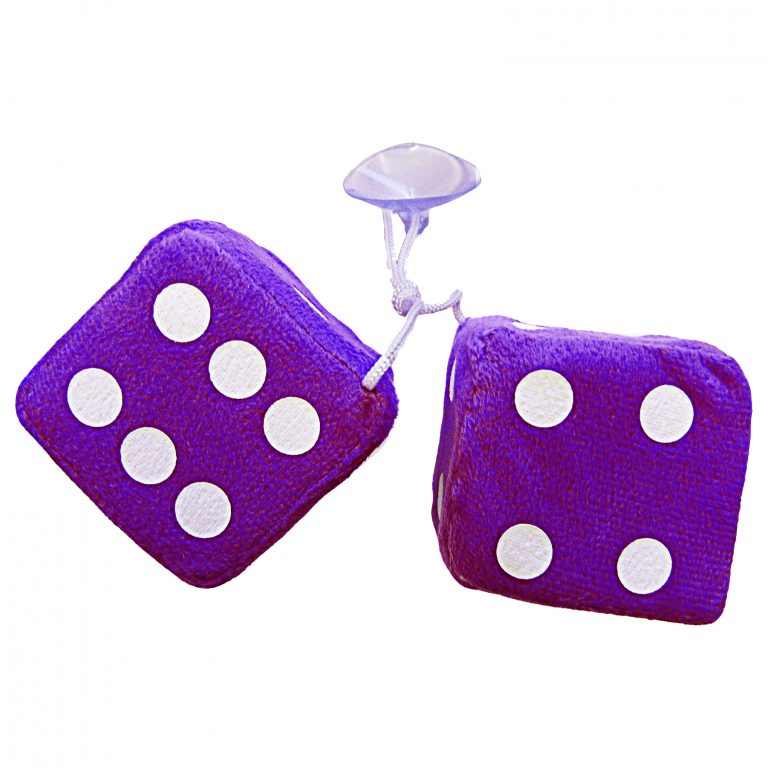 Simply Purple Furry Dice - WWW.PLANETAUTO.IE