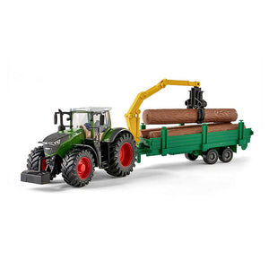 Burago Fendt 1000 Vario with Tree Forwarder Die Cast model