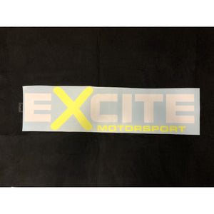 "Excite Window Sticker 28"" x 7"" - WWW.PLANETAUTO.IE"
