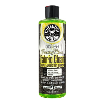 Chemical Guys Foaming Citrus Fabric Clean Carpet and Upholstery Shampoo 473ml - WWW.PLANETAUTO.IE